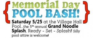 Baxter Village Memorial Day Cookout And Pool Opening @ Village Hall Pool
